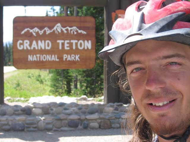 me entering teton national park