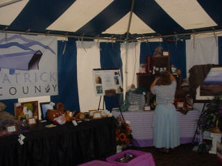 Patrick County Booth at the Folk Festival