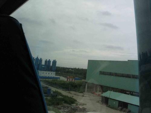 Outside train window