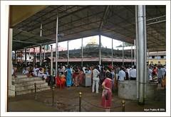 People at Kollur Mookambika Temple
