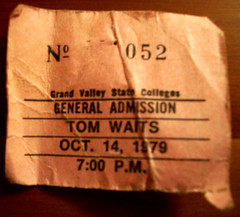 Tom Waits ticket