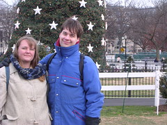 Me and Andrew in front of the White House Christmas Tree