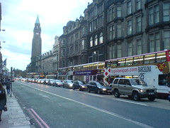 Edinbugh's traffic calming in full action with this huge queue!