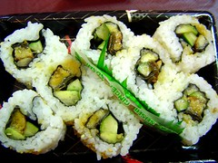 eel and cucumber sushi