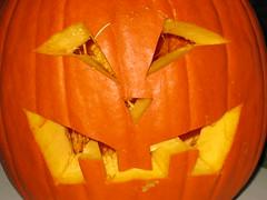 Jack-o-lantern close up