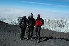 Wij voor de gletsjer