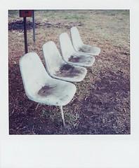 A timeworn bench