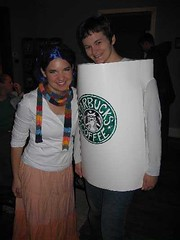 Blue-Haired Girl & Pumpkin Spice Latte