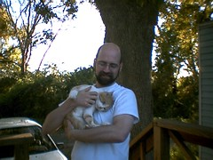 Mr. Kitty and me - November 2005