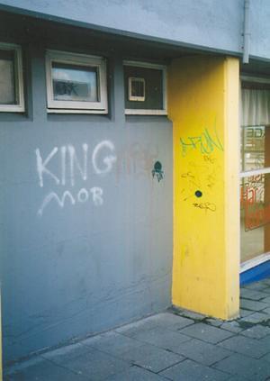 King Mob graffiti in Reykjavik