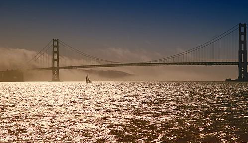 Boat, Bay, and Bridge