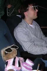 Felicia and Andrew ready for the 3-D IMAX show