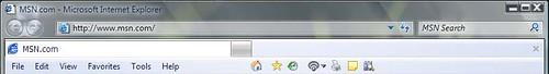그림 23 - IE 7 Beta1 for windows vista