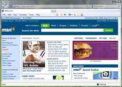 그림 4 - IE Beta 1 for Windows Vista