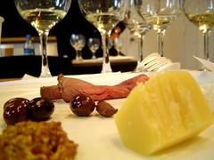 savory foods and wine