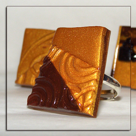 Bague or et chocolat pour gourmande
