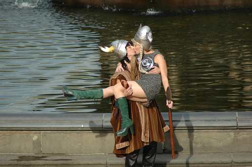 Viking love in Central Park