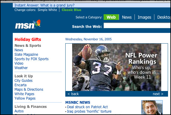 My Shaun Alexander pic on MSN.com