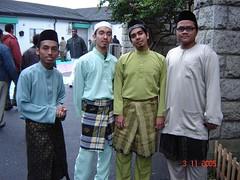 Sebelum Sembahyang Raya di Dublin Mosque