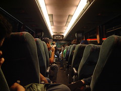 Grad students are relegated to the back of the bus