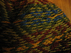 Close-up of fair isle hat inside