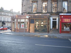 Halo: Exterior shot of the bar in Edinburgh's West End (Melville Place)