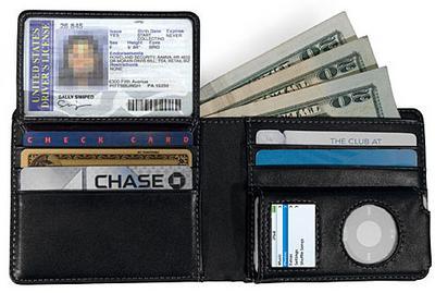 cartera billetera de piel para ipod nano