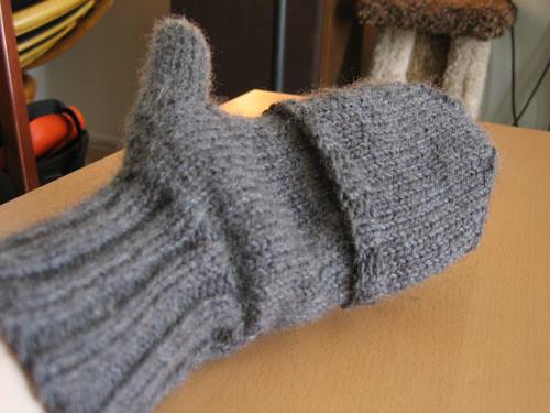 Front of mitten