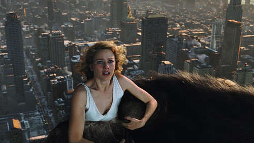 Naomi Watts braces herself for a little monkey love atop the Empire State Building.