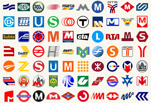 Metro and Subway Logos From Around the World