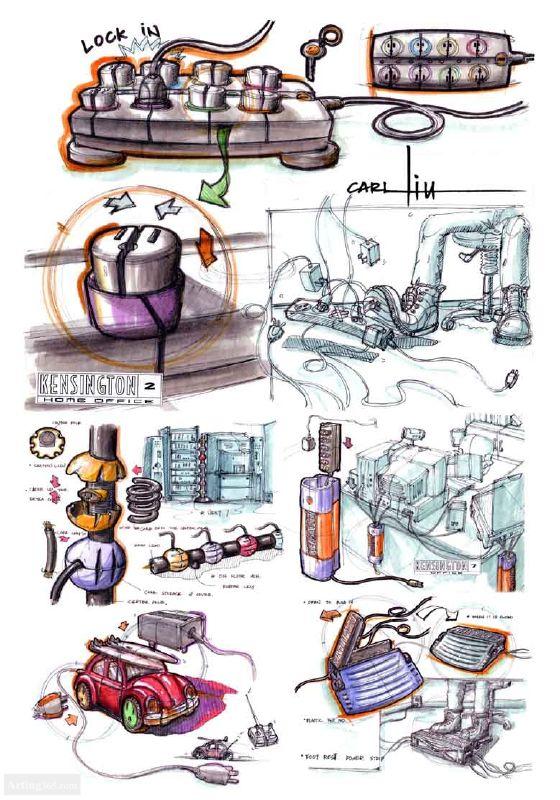 专业手绘网站 手绘图片库 工业产品手绘图 最大手绘效果图图库