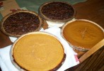 Yesterday I baked 4 pies for a dinner with 5 people: pumpkin, sweet potato, and 2 pecan.