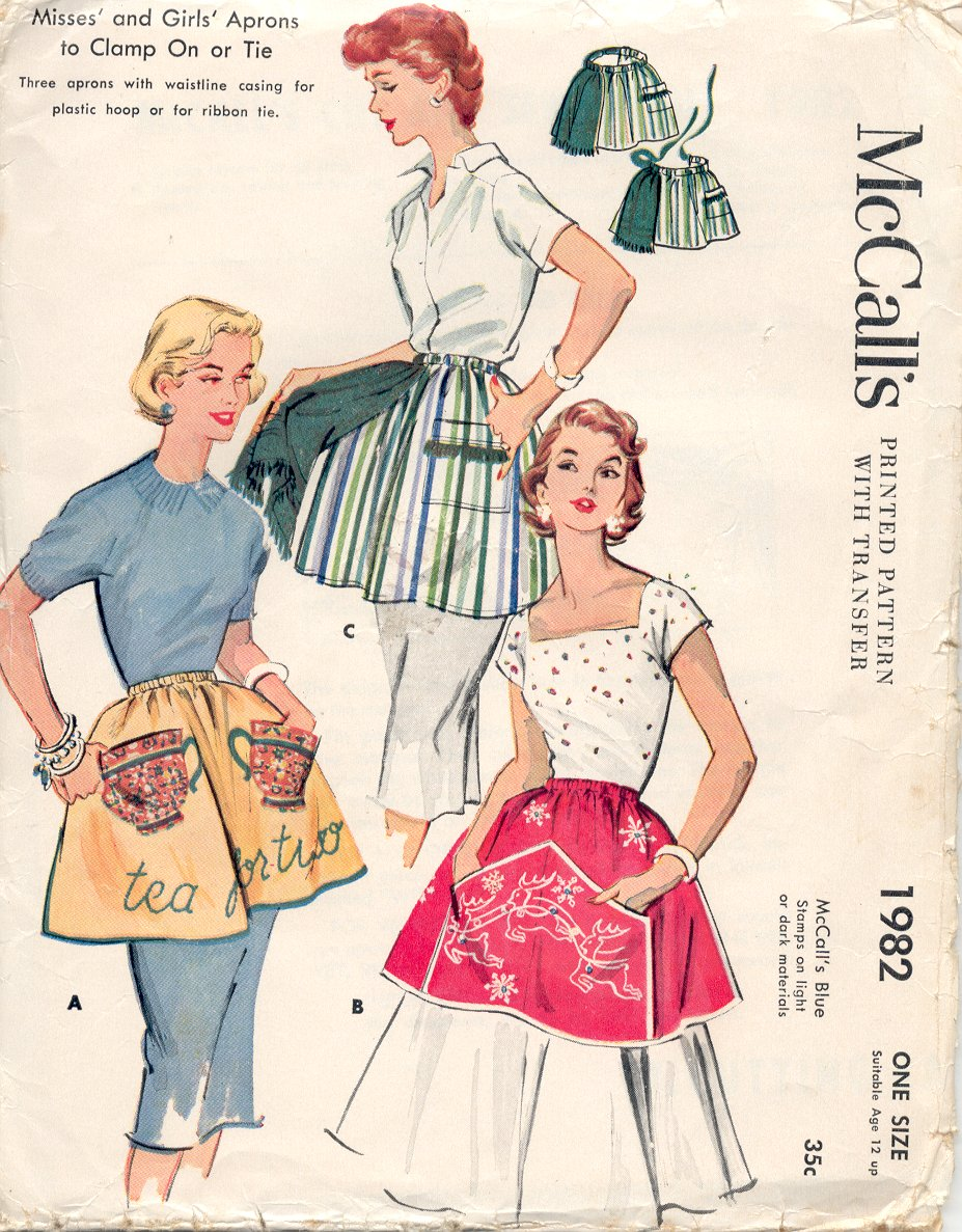 Clamp On apron, 1955