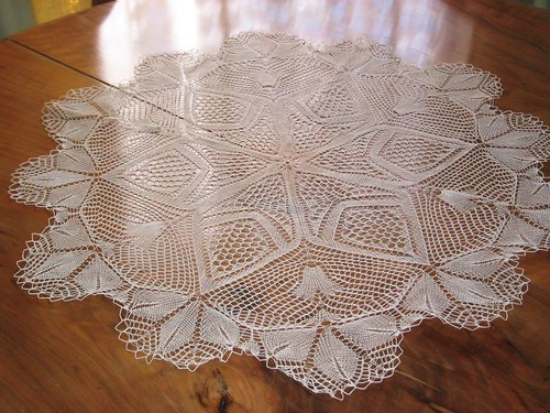 Catalan heirloom lace knitting