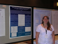 Me with my poster at the AAS meeting