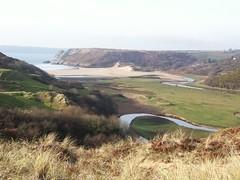 From Pennard across Three Cliffs Bay