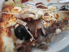 Rainbow Pizza, giant Greek Pizza w/ Lamb