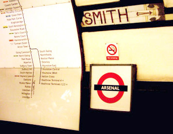 Arsenal Tube Station - will this sign be a thing of the past?