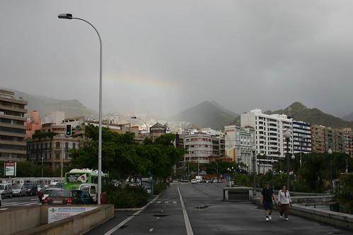 Rainbow over Santa Cruz.