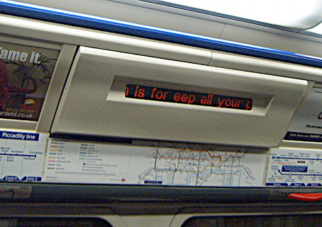 The Missing K on the Piccadilly Line