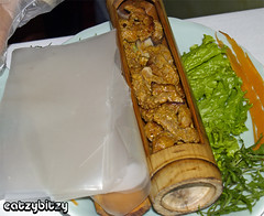 Grilled Beef in Bamboo Cylinder