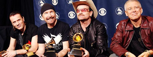 U2 win big at 2006 Grammy Awards - click on image to see Flickr photos of Grammys