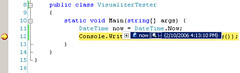 Debugging Visual Studio 2005 DateTime variable