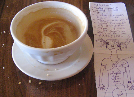 latte, crumbs & notes