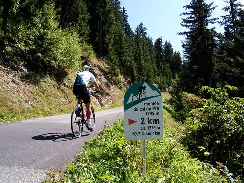 Col du Pré - steep