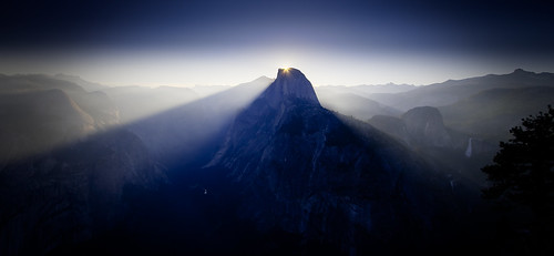 Half Dome Sunrise (colour)