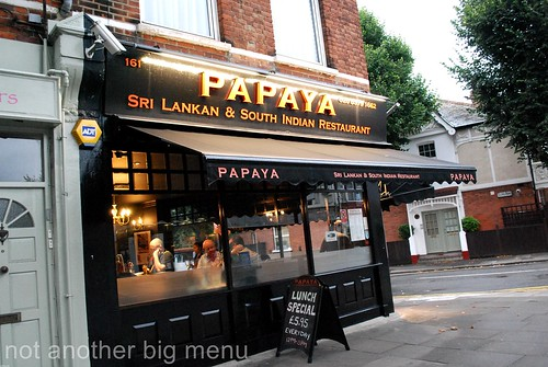 Papaya restaurant, Ealing, London