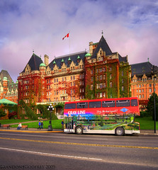 The Empress Hotel: Vertical Pano HDR photo by Brandon Godfrey