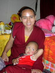 tz with the magic baby photo by Tenzin Phuntsok Rinpoche