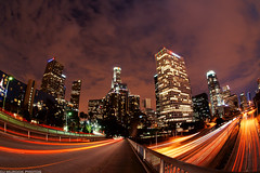 Down Town Los Angeles via Fisheye (explored front page) photo by dj murdok photos